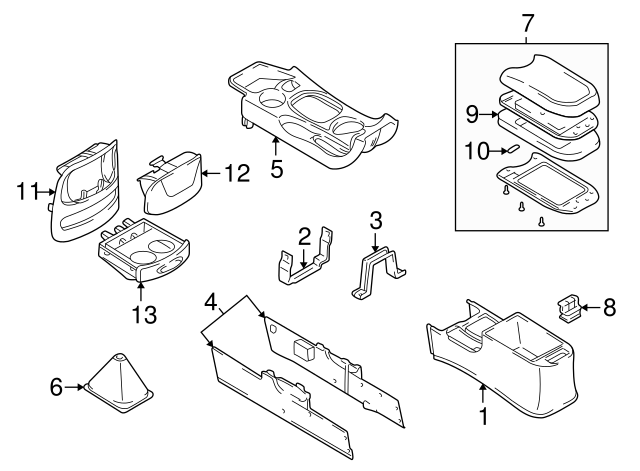 Genuine Hyundai 84660-29100-LT Console Armrest Assembly
