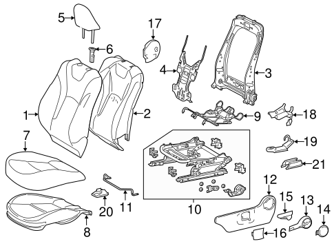 Driver Seat Components For 2016 Toyota Prius