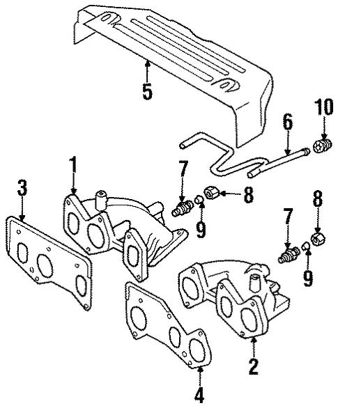 Exhaust Manifold For 1996 Volkswagen Jetta