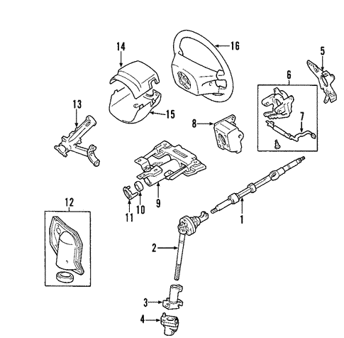 cbec282aa04fe048723cb59c102e6af2 genuine oem steering column parts for 2001 toyota tundra limited