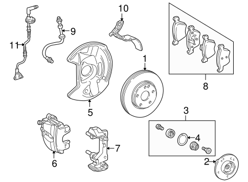 Brake Components for 1998 Mercedes-Benz E 320 #0