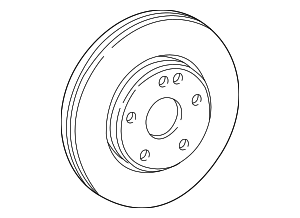 Disc Brake Rotor - Mercedes-Benz (210-421-17-12-64)