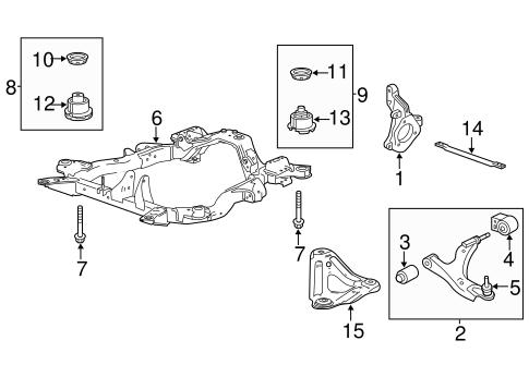 OEM 2013 Chevrolet    Equinox       Suspension    Components Parts