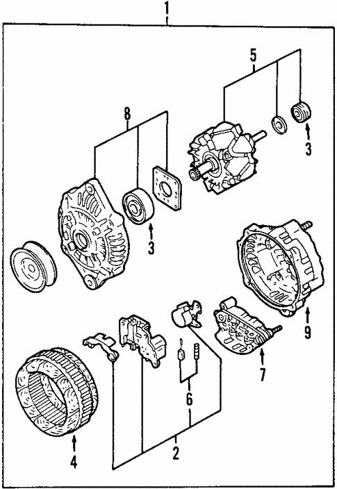 Alternator For 2003 Mazda Protege5
