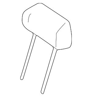 Headrest - Mercedes-Benz (163-970-17-50-1A19)