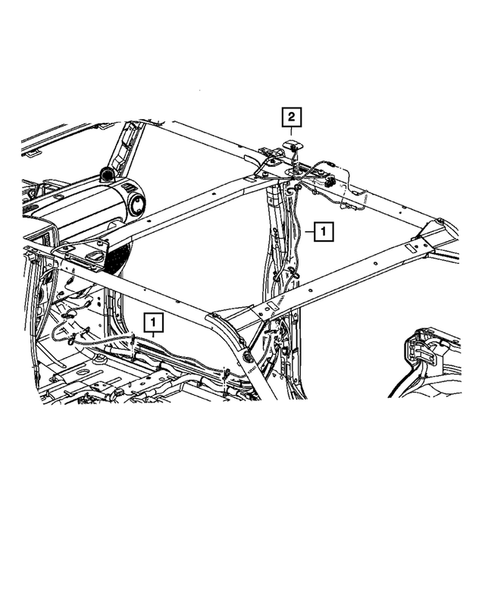 07-10 Jeep Wrangler New Satellite Radio Antenna /& Wiring Harness Kit Mopar