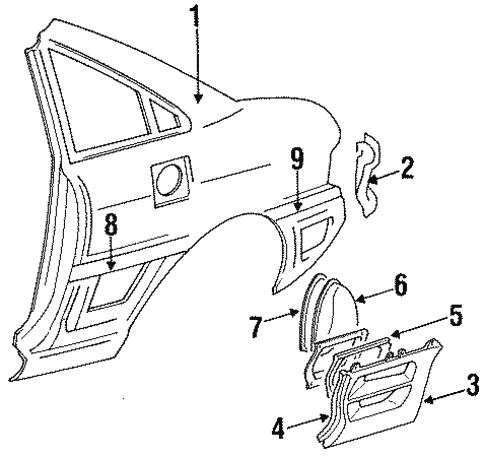 quarter panel  u0026 components for 1991 toyota mr2