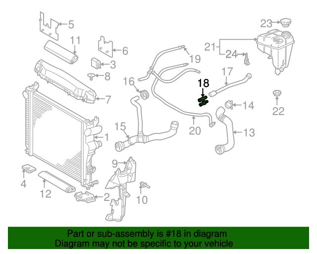 Coolant hose t connector mercedes benz 230 501 00 13 for Mercedes benz cheap parts