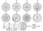 Wheel, Alloy - Mopar (5PQ12JXYAB)