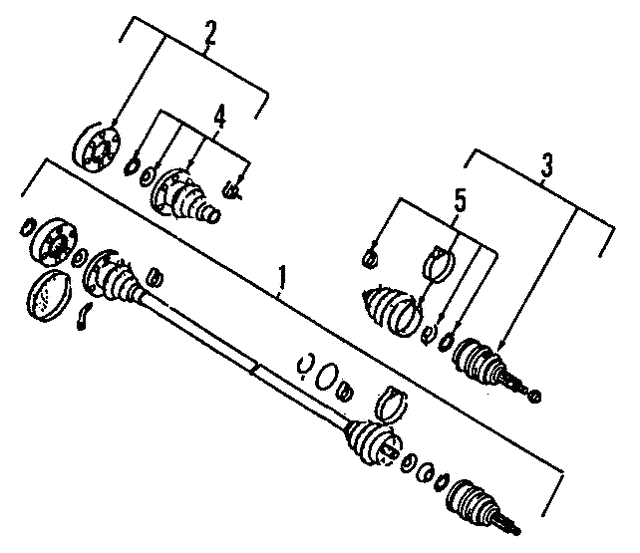Axle Assembly - Volkswagen (1K0-407-271-HN)