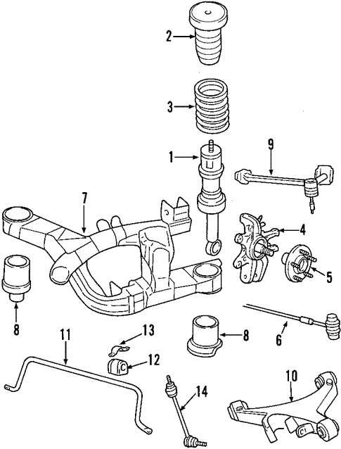 Oem 2003 Lincoln Ls Rear Suspension Parts
