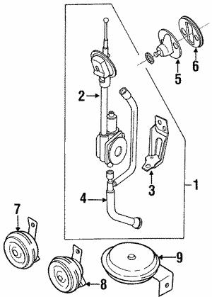 1989 1996 Nissan 240sx 300zx Maxima Stanza Power Antenna Rod Mast