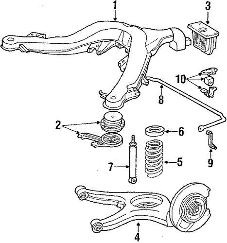 Rear suspension for 1987 mercedes benz 300 sdl mbwholesale for Mercedes benz suspension parts