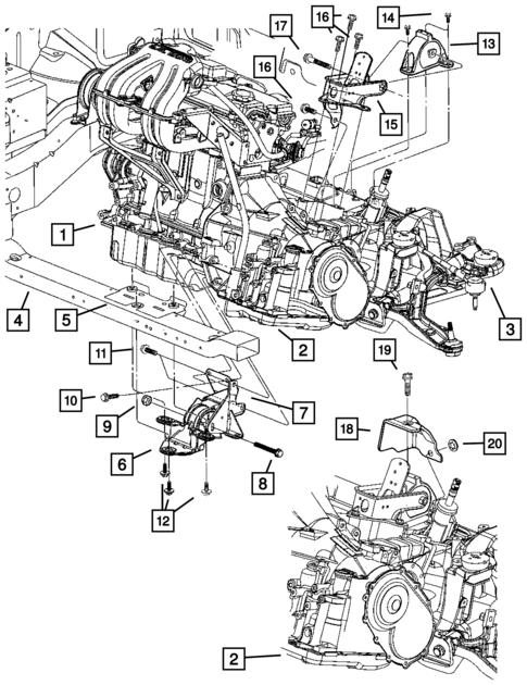 Engine Mounting For 2007 Dodge Grand Caravan