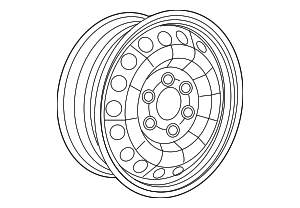 Wheel, Steel - Mercedes-Benz (001-401-48-02-9206)