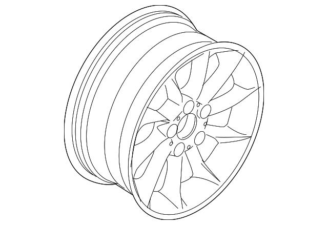 2006 2008 Bmw Z4 Wheel Alloy 36 11 6 771 157
