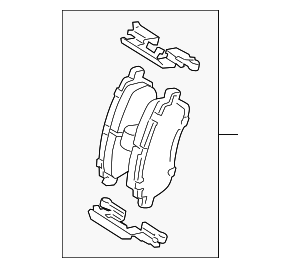Brake Pads - FORD (ay1z2001e)