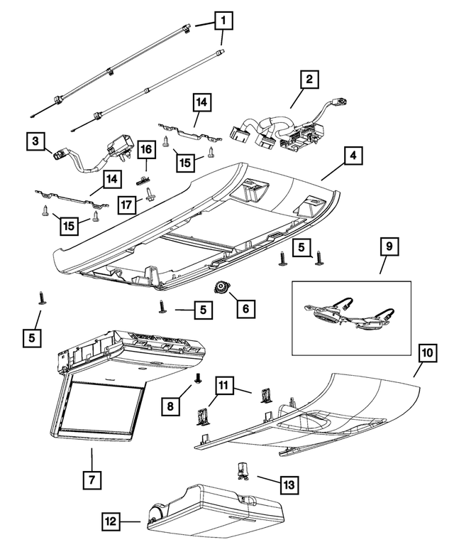 OEM NEW 08-20 Mopar Dodge Chrysler Ram Caravan Bracket Floor Console 68029534AA