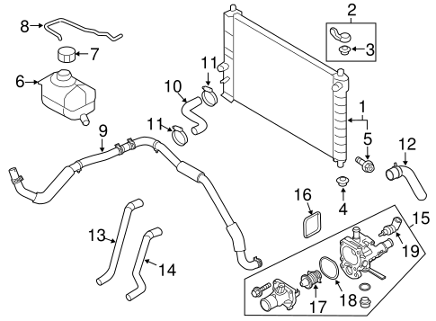 2004 Chevy Aveo Engine Heater Hoses Diagram