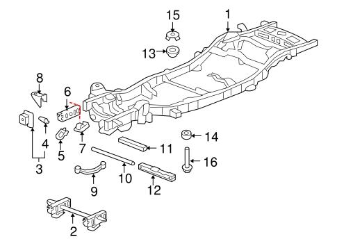 OEM 2007 Chevrolet    Tahoe       Frame      Components Parts