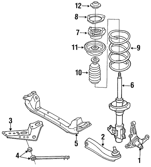 Suspension Components for 1994 Nissan 240SX | Courtesy Parts