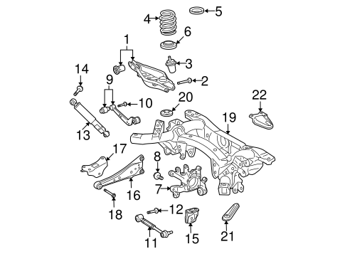 genuine oem rear suspension parts for 2007 toyota rav4 sport Ford F150 Rear Suspension