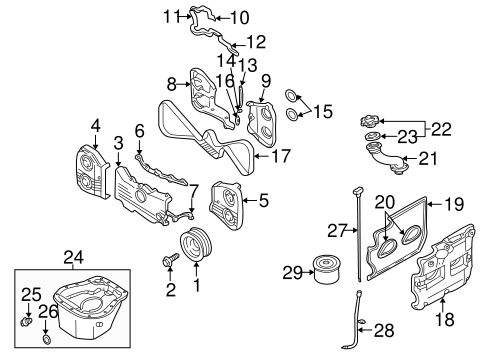 Engine Parts For 2003 Subaru Impreza