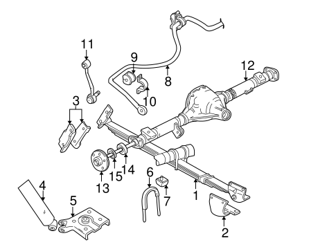 Rear Suspension/Stabilizer Bar & Components for 2000 Ford Explorer #1