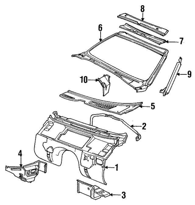 1988 1995 bmw inner panel 41131974498 my bimmer parts 1997 BMW 750iL S600 V12 inner panel bmw 41131974498