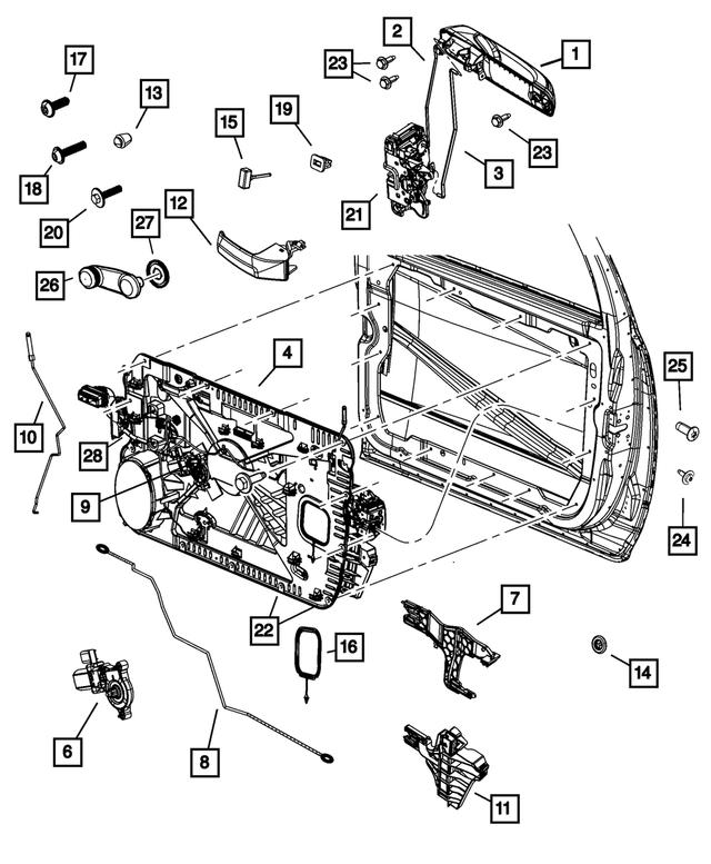 Genuine Chrysler 55077311AB Trailer Hitch Plug