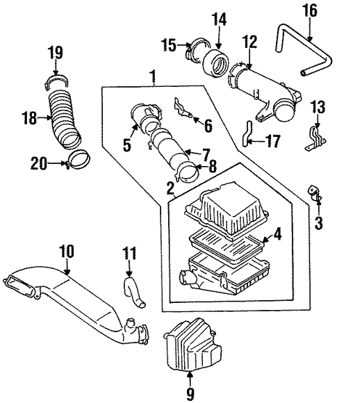 1995 Kia Sportage Engine Diagram