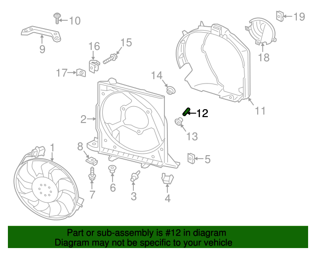 porsche 991 engine diagram engine cooling fan motor spacer porsche  991 624 175 03  engine cooling fan motor spacer
