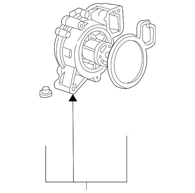 Genuine Gm Water Pump 12630084