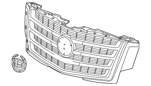 genuine oem upper grille