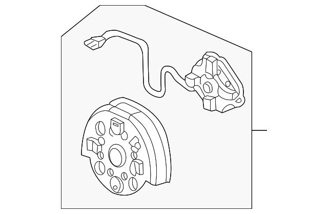 2004 2008 Honda Pilot 5 Door Actuator Sub Assembly L Heated 76215