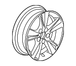 Wheel Assembly, Aluminum (17X7J) (Enkei)