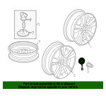 Cap Assembly, Aluminum Wheel Center