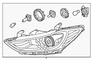 Headlamp Assembly - Hyundai (92101-F2050)