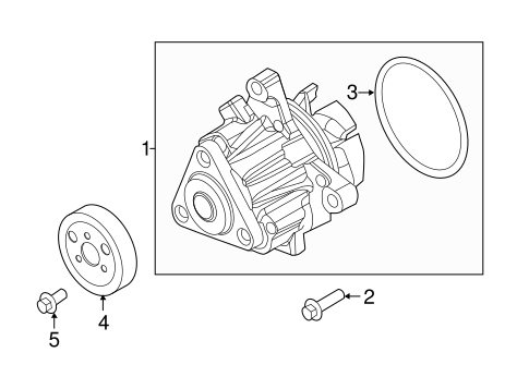 Cooling System Water Pump For  Ford Edge