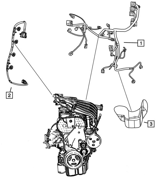 Mopar Wiring Engine 4795185ac