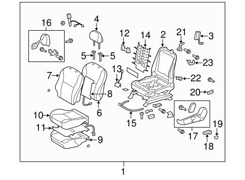 TOYOTA Genuine 71512-12360 Seat Cushion Pad