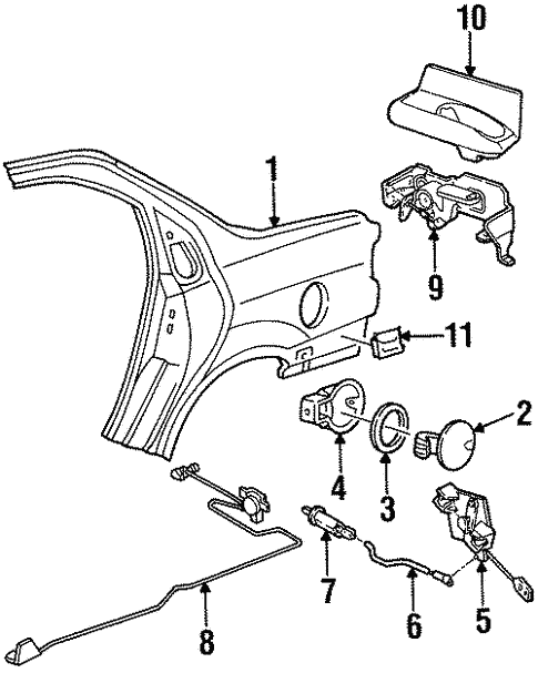 Body/Quarter Panel & Components for 1997 Ford Contour #1