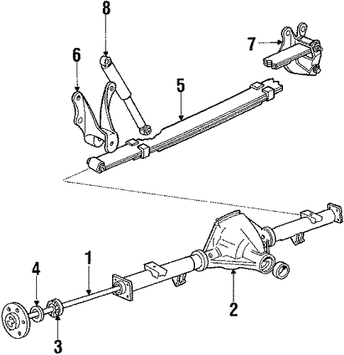 axle housing for 1989 ford bronco