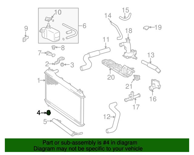Lexus Rx300 Parts Diagram Radiator Wiring Diagram