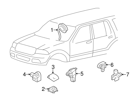 Electrical/Air Bag Components for 2010 Ford Expedition #1