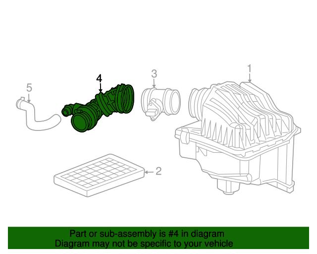 05-06 Jeep Liberty 2.8L Diesel CRANKCASE VENTILATION CLEAN AIR HOSE OE NEW MOPAR