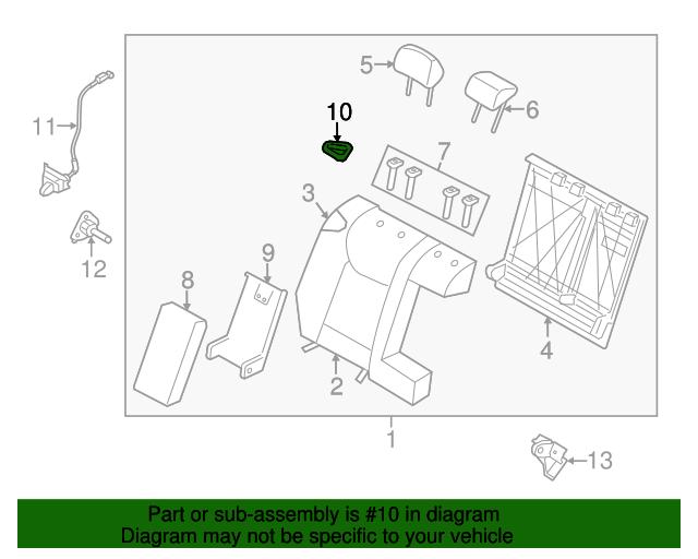 seat belt guide hyundai 89490 3x000 ry hyundaiparts rh hyundaioemparts com hyundai seat belt replacement hyundai elantra seat belt replacement