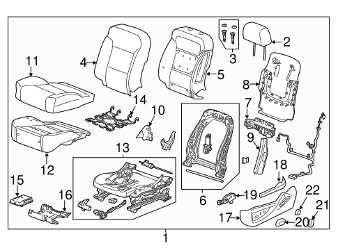 Oem 2017 Gmc Yukon Driver Seat Components Parts