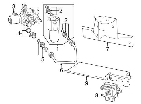 fuel system components for 2015 gmc sierra 2500 hd