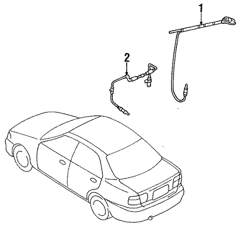 Antenna & Radio for 1997 Mazda Protege #0